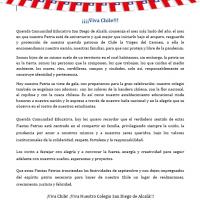 Saludo Directora Fiestas Patrias